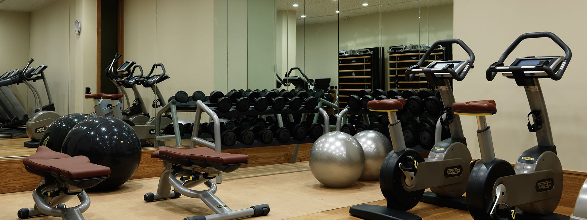 The gym at The Connaught