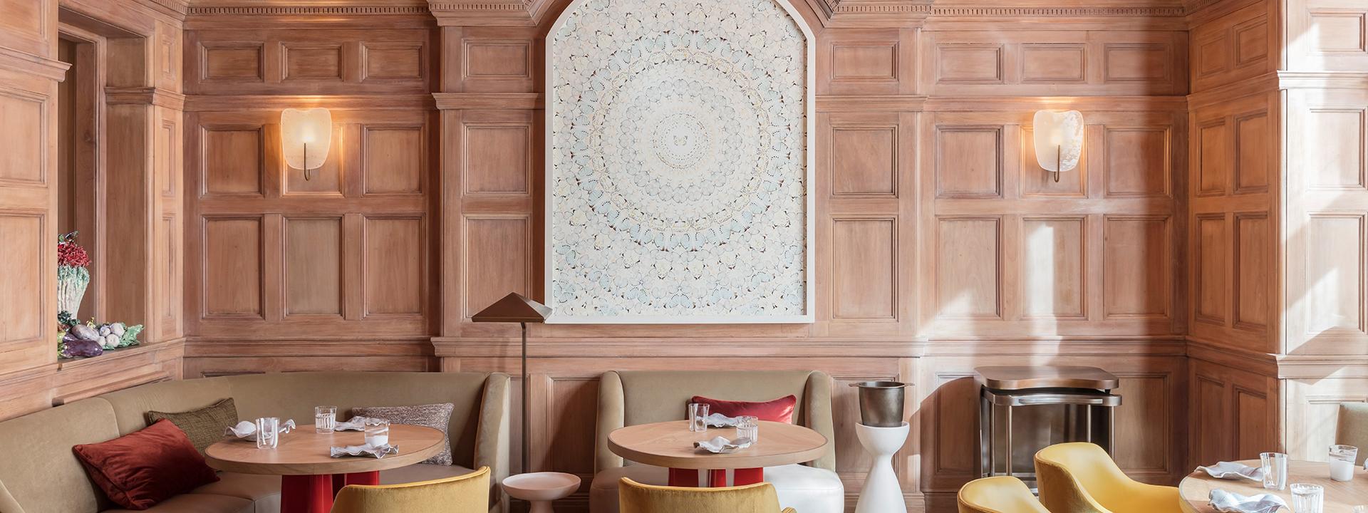 Interior of Hélène Darroze restaurant at The Connaught in Mayfair