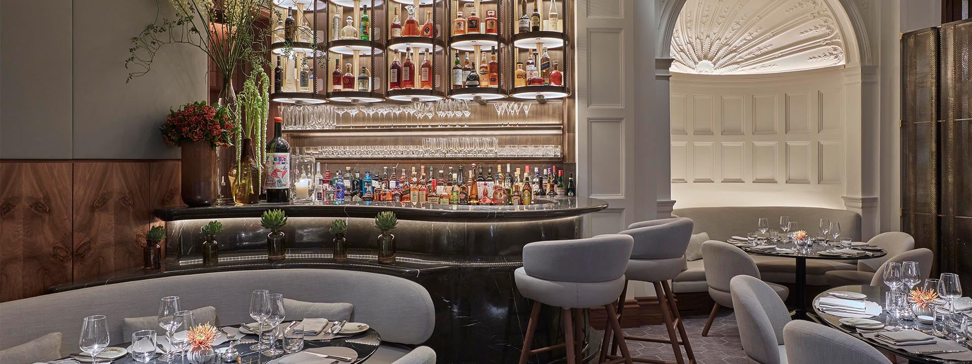 Interior of Jean-Georges at The Connaught in Mayfair