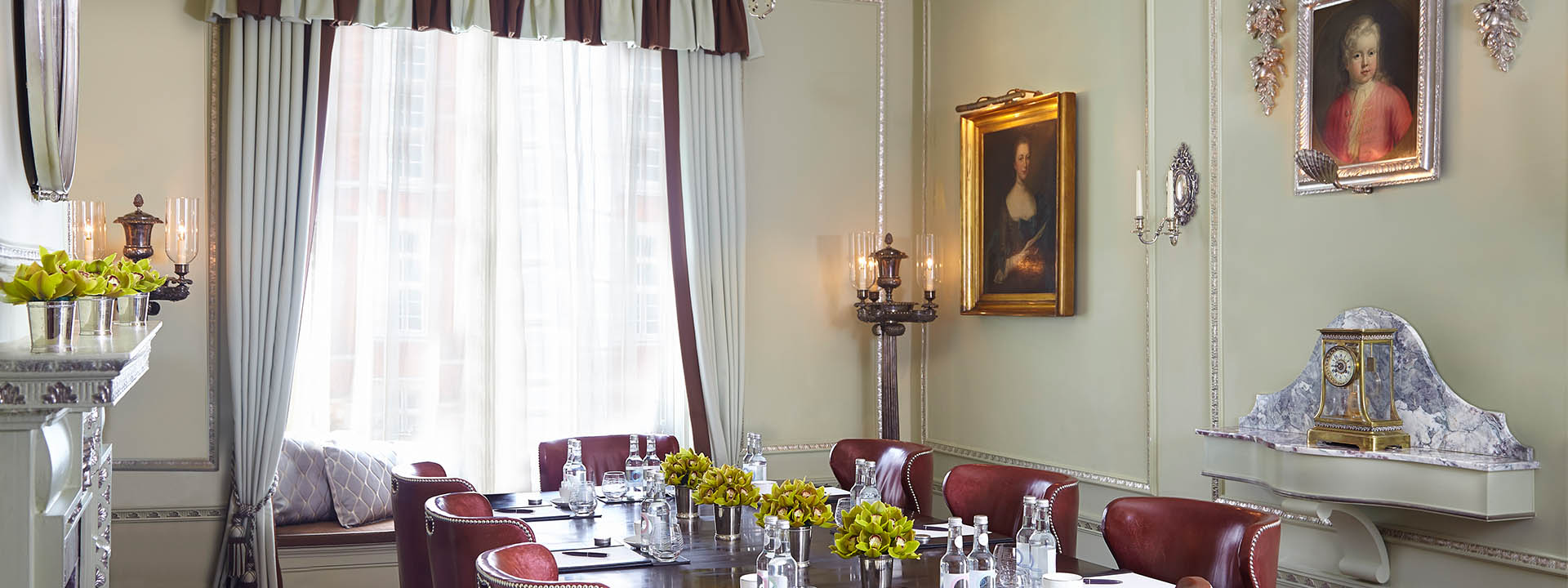The Georgian room at The Connaught set up for a meeting