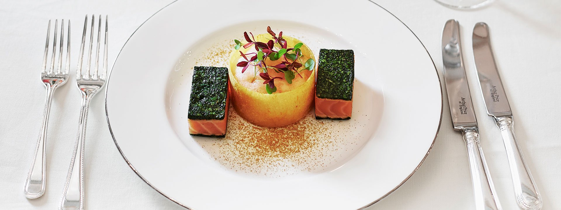 A dish from The Connaught events menu