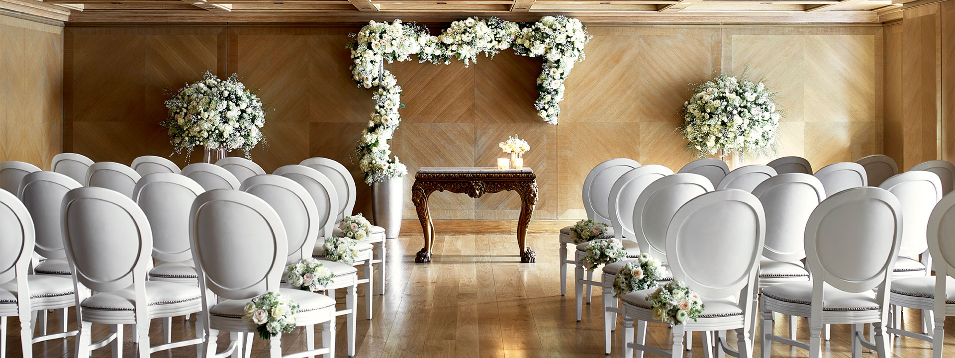 Wedding ceremony at the Connaught hotel Mayfair