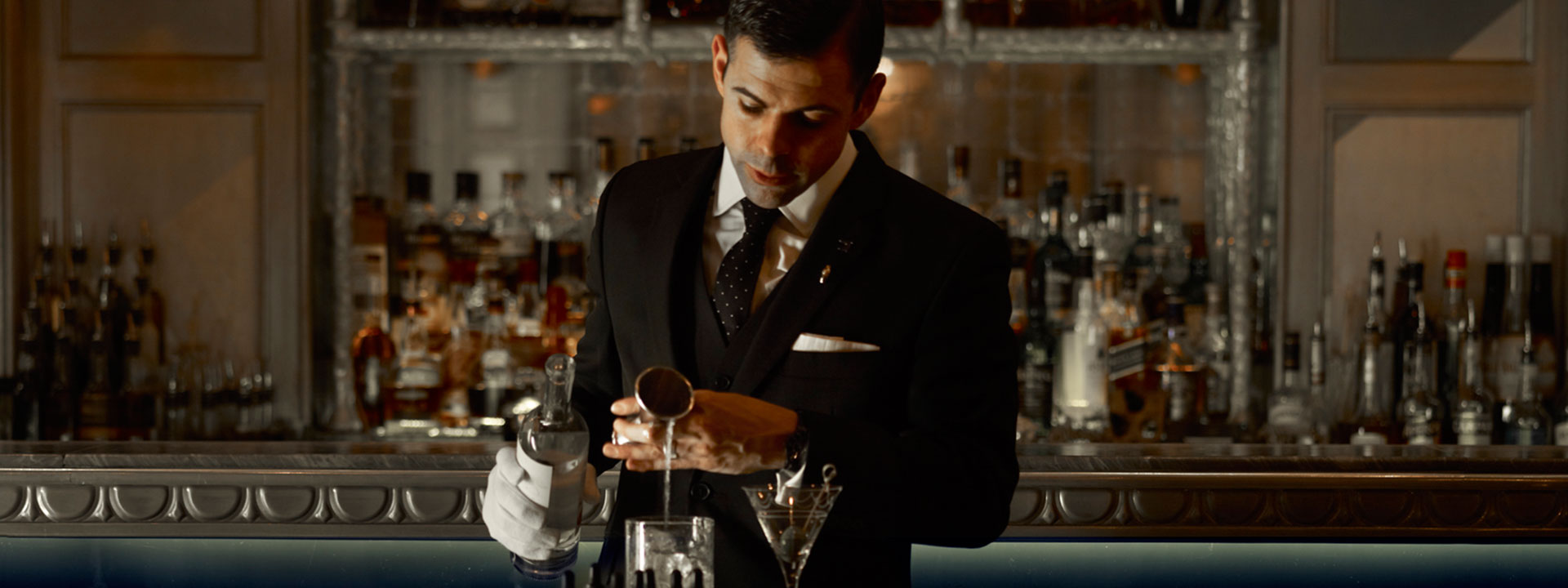 Bartender preparing a cocktail at The Connaught